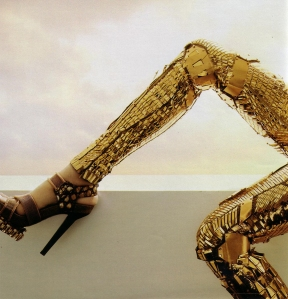 Balenciaga-2007-Runway-Gold-Robot-Pants