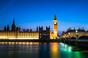 London bigben at night, UK, United Kingdom